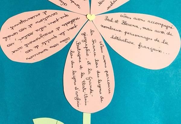 courrier Fleur écriture apprendre