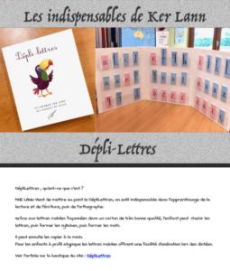 Le Dépli-lettres (outil pédagogique)