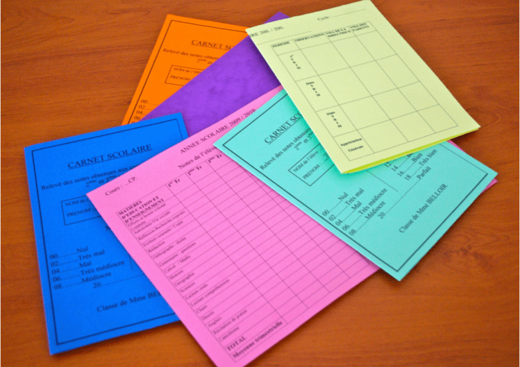 carnets scolaires