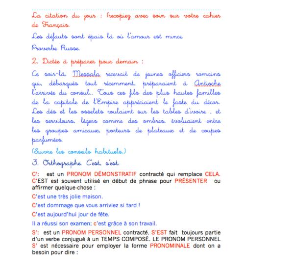 révisions français cm1