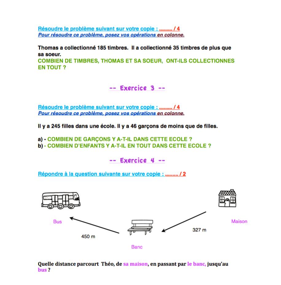 révisions mathématiques ce1