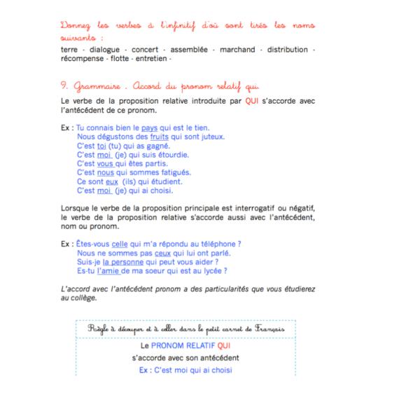 révisions français cm2
